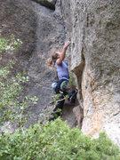 Rock Climbing Photo: Starting up the uninspiring chimney.