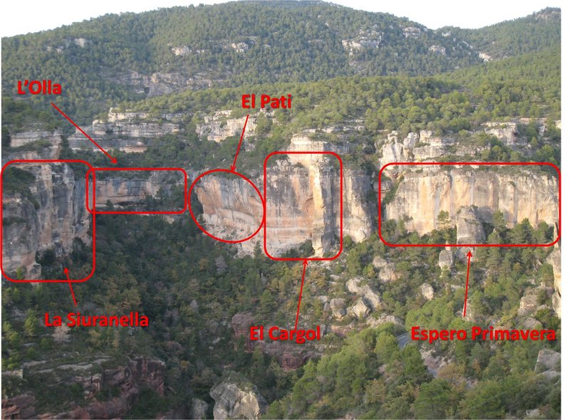 Map of the Valley Crags.