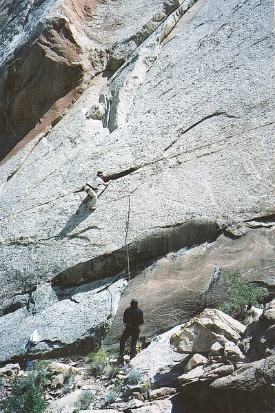 Rock Climbing Photo: Jeff Balwin freeing the start of the first pitch