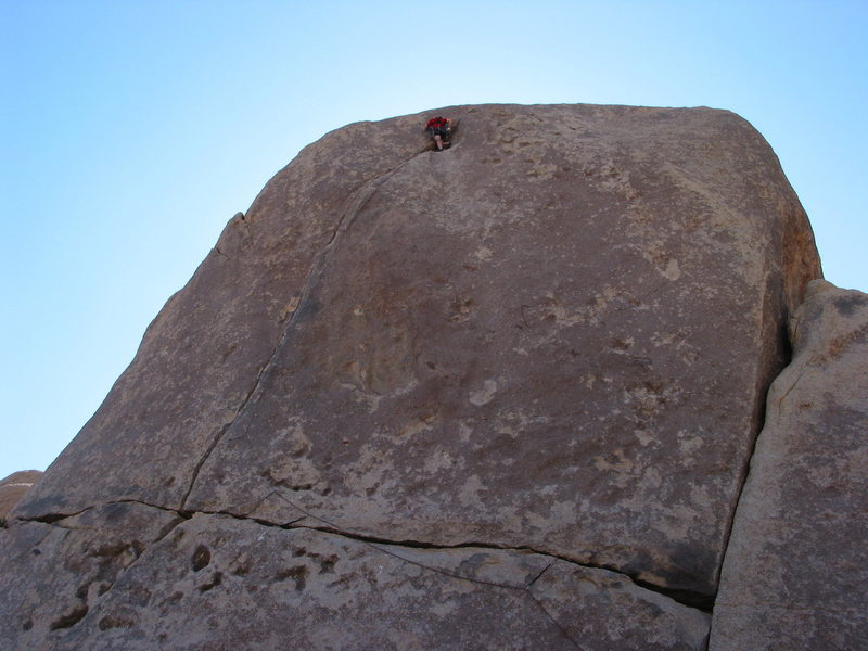 Rock Climbing Photo: One more move, and the redpoint is bagged! Ropedra...