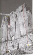 Rock Climbing Photo: A) Coffin Dodger. C1 5.10+ B)Tres Gatos. 5.11. A0