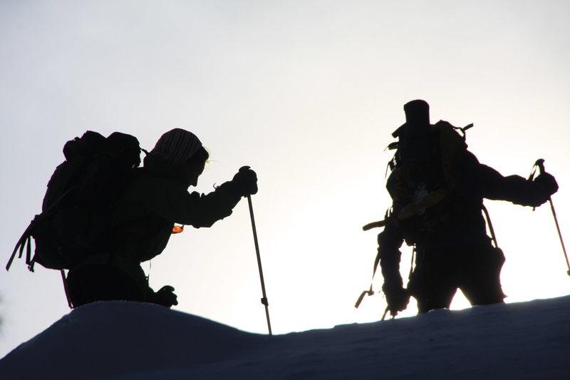 Rock Climbing Photo: Snow-walkers