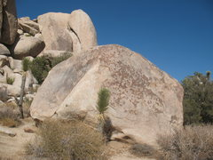 Rock Climbing Photo: The Victory Boulder with Houser Buttress in the ba...