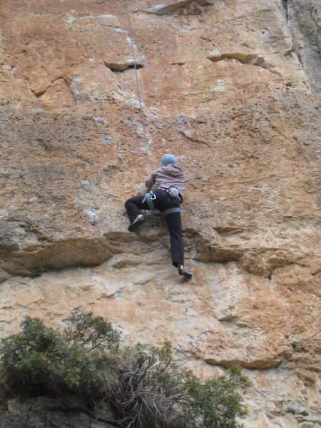"Rock Climbing Photo: The first cruxy bit of ""Toca-me-la Sam"",..."