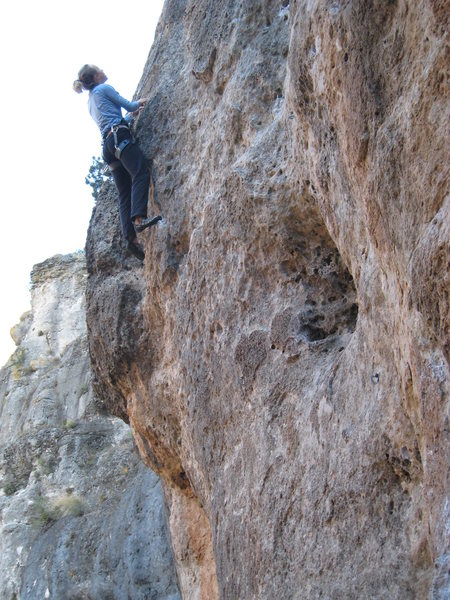 The fun, juggy mid-section of Cap Rapat.