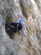 Rock Climbing Photo: Exiting the upper pod.