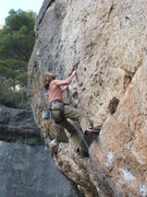 Rock Climbing Photo: After a great rest, good pockets lead up to the no...