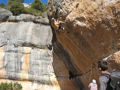 Rock Climbing Photo: Cruising up the mellow finish.