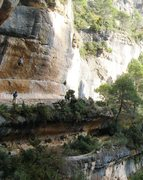 Rock Climbing Photo: The right side of L'Olla, including the right-half...