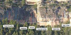 Rock Climbing Photo: Key routes at Campi.