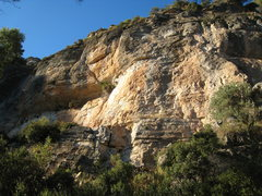 Rock Climbing Photo: This is the section of cliff that is right of the ...
