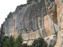 Rock Climbing Photo: The left end & the main central wall of Campi.  Th...