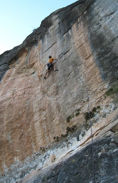 Rock Climbing Photo: Shaking at the horizontal break that marks the end...