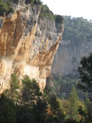 Rock Climbing Photo: Sector El Pati. with a climber on...something hard...