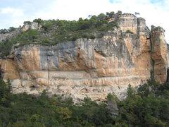 Rock Climbing Photo: El Pati & El Cargol from La Siuranella.  La Rambla...