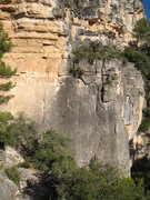 Rock Climbing Photo: Marges Upper from the trail.  The rope is on &quot...