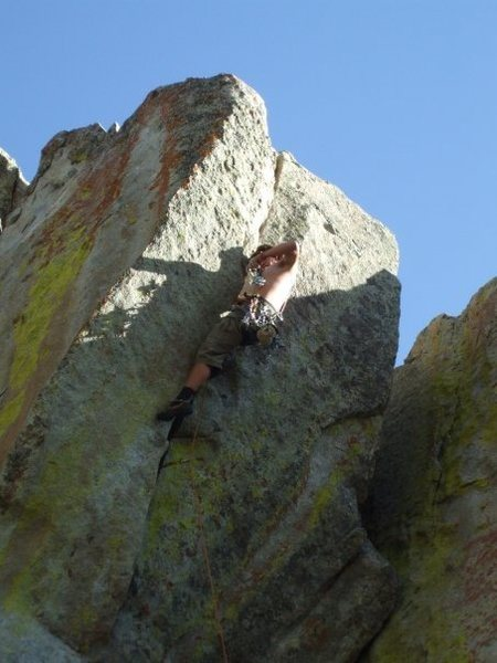 Rock Climbing Photo: wide hands section on interceptor