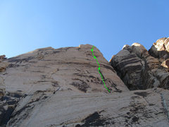 Rock Climbing Photo: Overview of the route.
