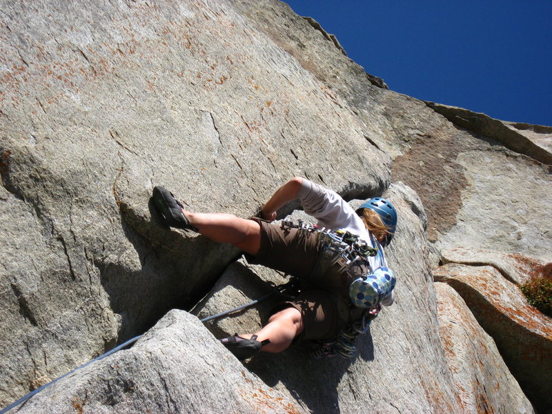 Rock Climbing Photo: 5.8 trad lead of Fred Rasmusen
