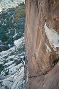 Rock Climbing Photo: Jean Myers follows JAG on pitch 2 of Bighorn Buttr...