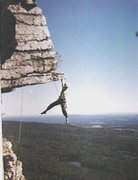 Rock Climbing Photo: JAG having fun on The Dangler.
