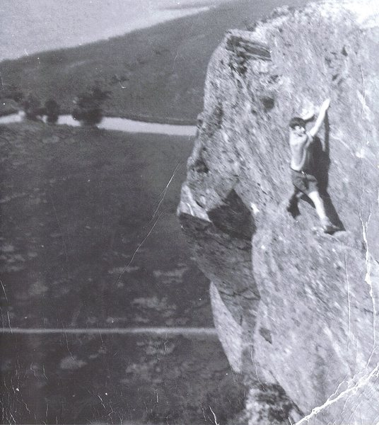 Rock Climbing Photo: My first ever day on a rock climb 1952. We followe...