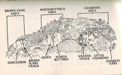 Rock Climbing Photo: The Crag divided into sections . More routes will ...