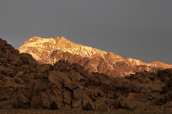 Mt. Williamson, early mornig light.<br> Photo by Blitzo.