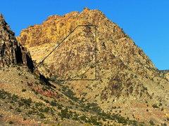 Rock Climbing Photo:  Gray and I climbed Prime Rib in November of 2009,...