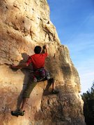 Rock Climbing Photo: Starting the upper section of Name Game