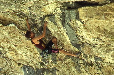 Rock Climbing Photo: Colin Lantz FA The Colinator, July 1992.