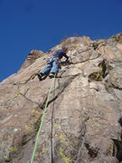 Rock Climbing Photo: At the first gear.  The crux is getting to this po...