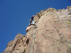 Rock Climbing Photo: Midway up the route.