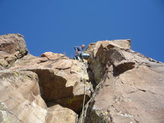 Rock Climbing Photo: The route. A fun crack on a beautiful winter day.