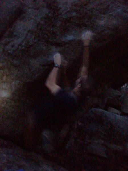 Rock Climbing Photo: Left arete sit start.