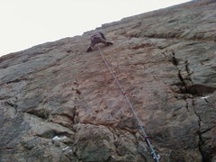 Rock Climbing Photo: Matt on the red wall clear creek canyon
