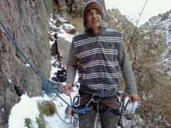 Rock Climbing Photo: cold day in clear creek canyon on the red walls