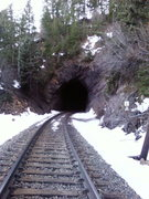 Rock Climbing Photo: The approach to the indutarial wall though tunnel ...