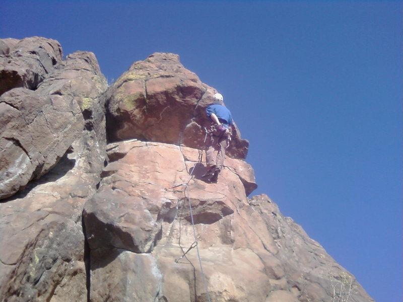 Rock Climbing Photo: Matt working on the route.