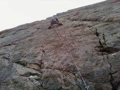 Rock Climbing Photo: Matt heading up [Lounge Lizard].