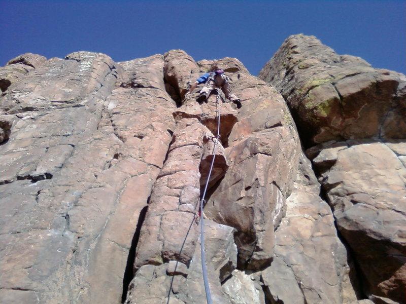 Rock Climbing Photo: Matt on Off Line on December 11 winter climbing at...