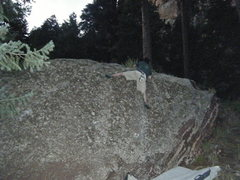 Rock Climbing Photo: It's a funky topout.