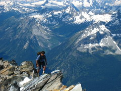 Rock Climbing Photo: James N. nearing the summit of Mt. Sir Donald.