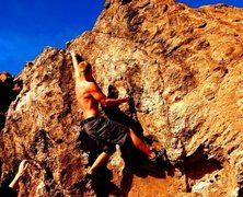Rock Climbing Photo: Bouldering at pena blanca in NM