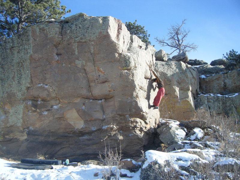 Rock Climbing Photo: Mike B. downclimbing Verdon Face.