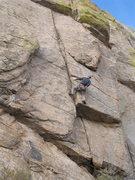 Rock Climbing Photo: EFR hanging on.