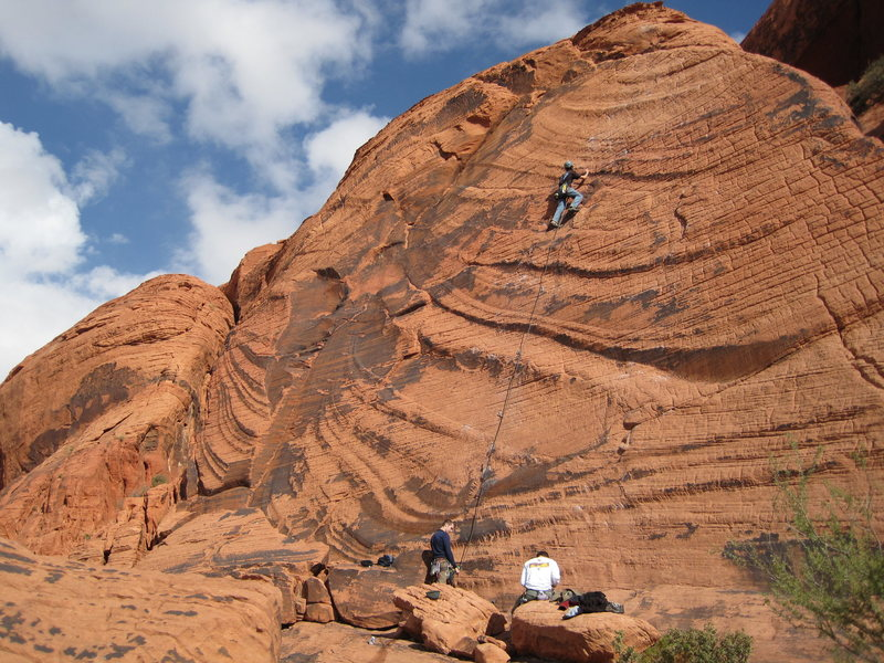 Rock Climbing Photo: Great balancy route