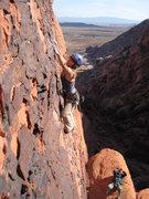 Rock Climbing Photo: headed up