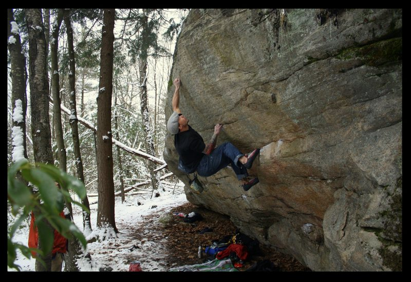 Rock Climbing Photo: tips away