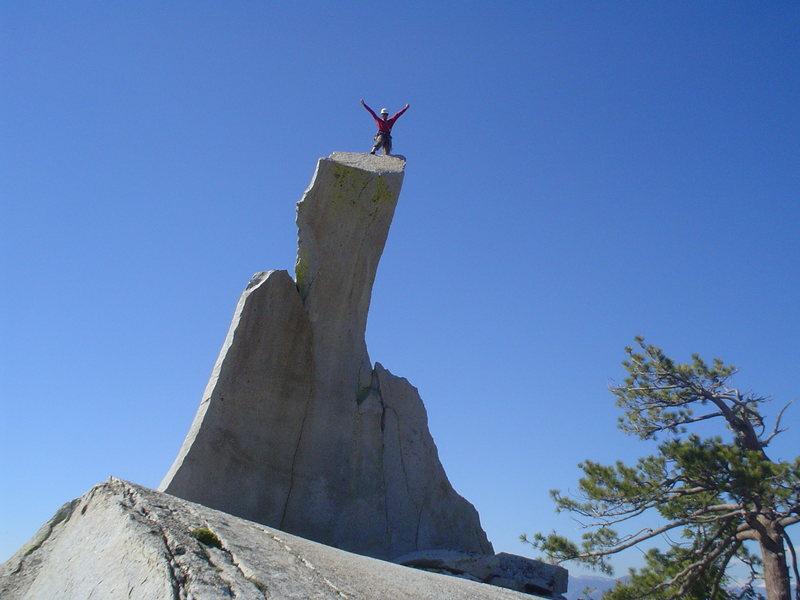 Rock Climbing Photo: Enjoying the summit of the Charlatan
